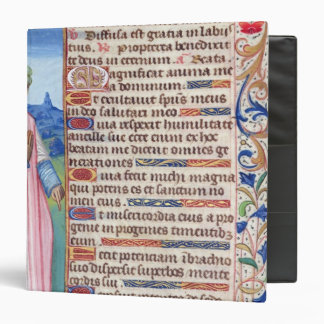 Text of the Magnificat with a portrait of Binders
