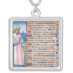 Text of the Magnificat with a portrait of Custom Necklace