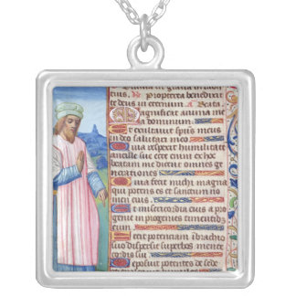 Text of the Magnificat with a portrait of Silver Plated Necklace