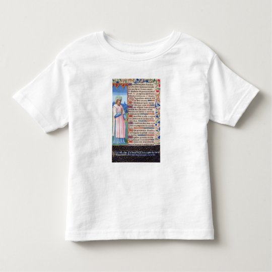Text of the Magnificat with a portrait of Toddler T-shirt