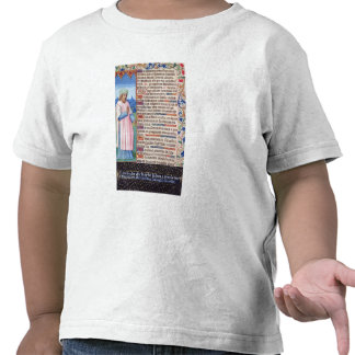 Text of the Magnificat with a portrait of Shirts