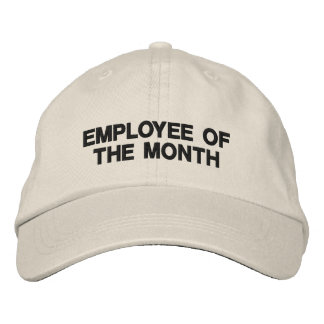 Text only business promotional marketing employee embroidered baseball hat
