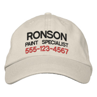 Text only business promotional marketing employee embroidered baseball caps