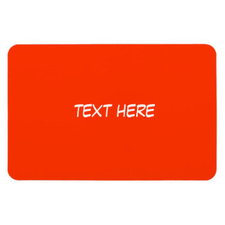 Text Only Rectangular Photo Magnet