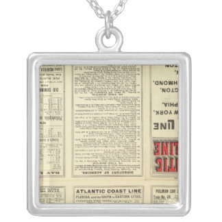 Text Page Atlantic Coast Line Silver Plated Necklace
