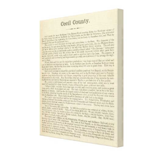 Text Page Cecil County Gallery Wrapped Canvas
