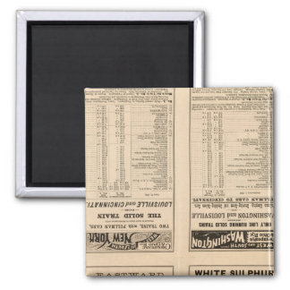 Text Page Chesapeake and Ohio Ry 2 Inch Square Magnet
