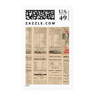 Text Page Chesapeake and Ohio Ry Postage Stamp