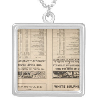 Text Page Chesapeake and Ohio Ry Silver Plated Necklace