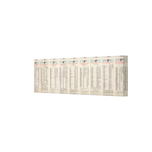 Text Page Chicago and North Western Line Gallery Wrap Canvas