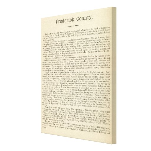 Text Page Frederick County Stretched Canvas Prints