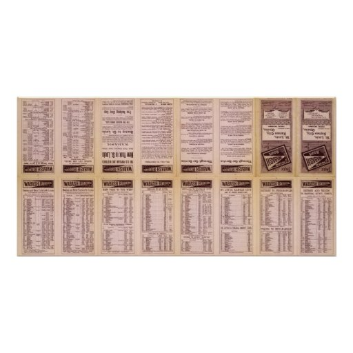 Text Page Great Wabash Route Print