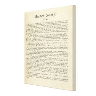 Text Page Harford County Canvas Print