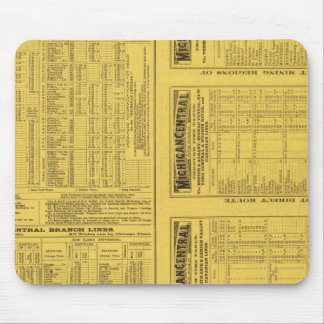 Text Page Michigan Central Railroad Mouse Pad