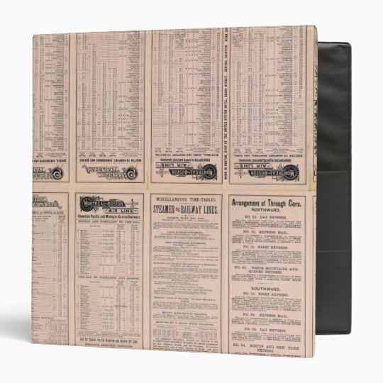 Text Page Montreal and Boston Air Line Binder