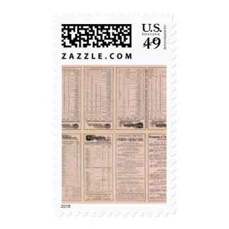 Text Page Montreal and Boston Air Line Stamps