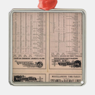 Text Page Montreal and Boston Air Line Square Metal Christmas Ornament