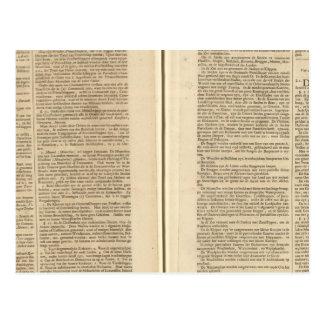 Text Page New World Atlas 2 Postcard