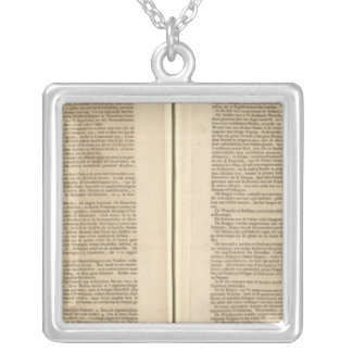 Text Page New World Atlas 2 Square Pendant Necklace