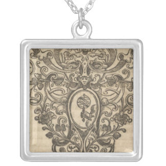 Text Page New World Atlas 3 Square Pendant Necklace