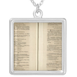 Text Page New World Atlas Square Pendant Necklace