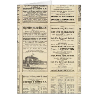 Text Page of Boston and Maine Railroad Greeting Cards