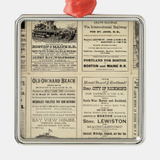 Text Page of Boston and Maine Railroad Metal Ornament