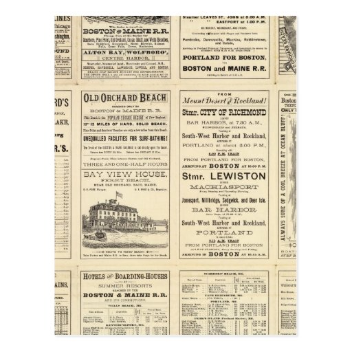 Text Page of Boston and Maine Railroad Postcard