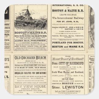 Text Page of Boston and Maine Railroad Square Sticker