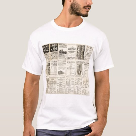 Text Page of Boston and Maine Railroad T-Shirt