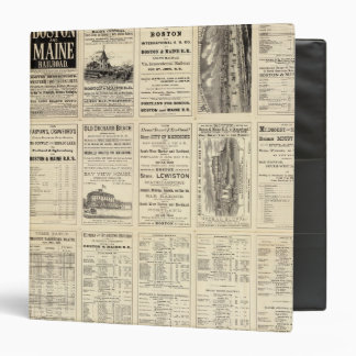 Text Page of Boston and Maine Railroad Vinyl Binder