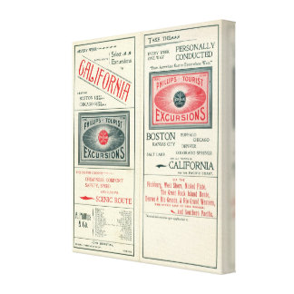 Text Page of Phillips Tourist Excursions Canvas Print