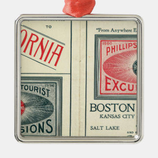 Text Page of Phillips Tourist Excursions Metal Ornament