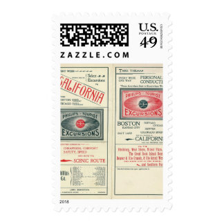 Text Page of Phillips Tourist Excursions Postage