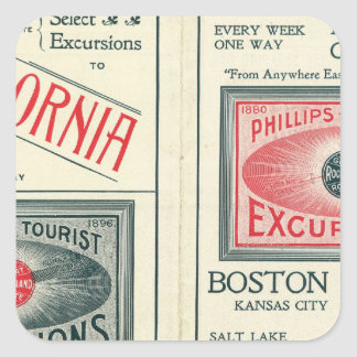 Text Page of Phillips Tourist Excursions Square Sticker