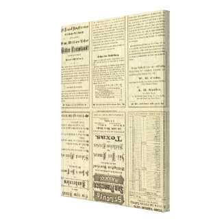 Text Page of St Louis and San Francisco Railway Canvas Print