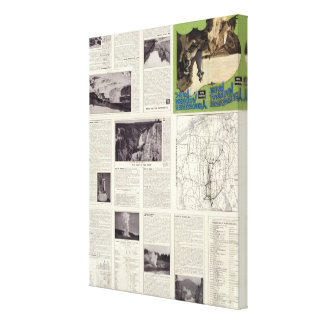 Text Page of Yellowstone National Park Canvas Print
