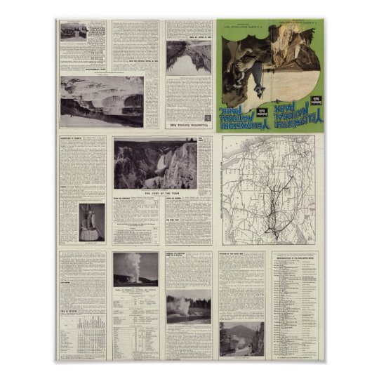 Text Page of Yellowstone National Park Poster