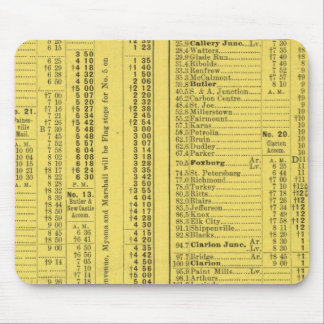 Text Page Pittsburgh and Western Railway Company Mouse Pad