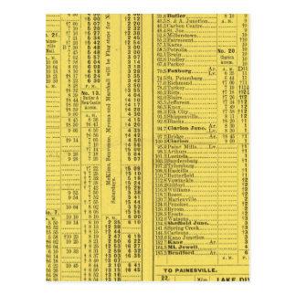 Text Page Pittsburgh y Western Railway Company Tarjetas Postales