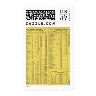 Text Page Pittsburgh y Western Railway Company Timbres Postales