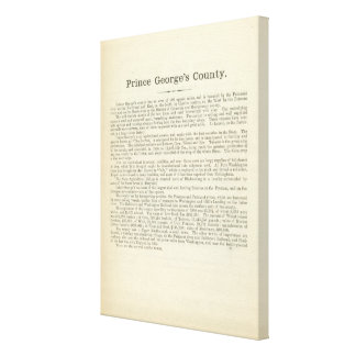 Text Page Prince George's County Canvas Prints