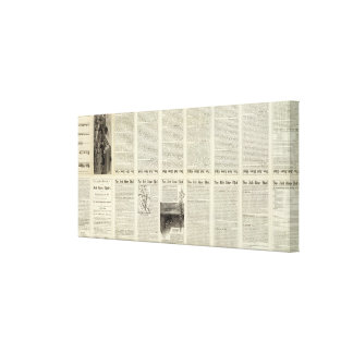 Text Page Red River Thal, Minnesota Canvas Print