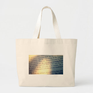 Text pious nest bail large tote bag