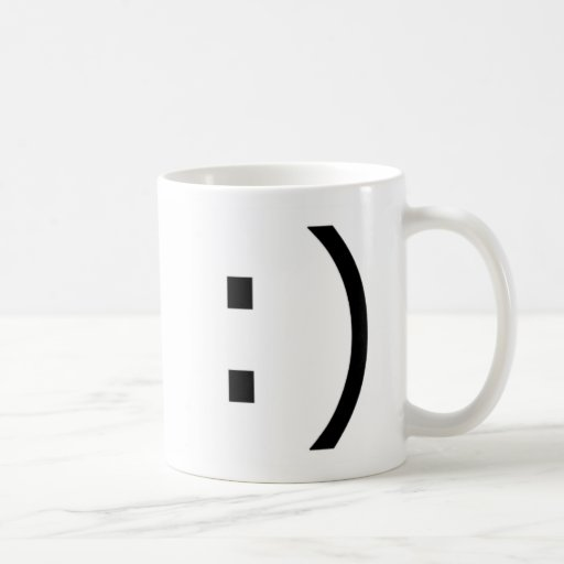 Text Smile (common) Coffee Mugs