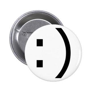 Text Smile (common) Pinback Button
