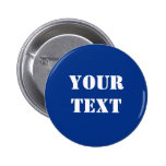 Text Template Button Royal Blue