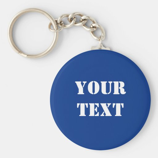 Text Template Keychain Royal Blue