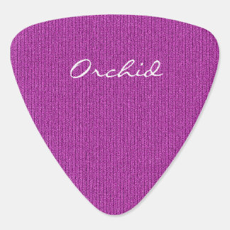 Text Template - Orchid Knit Stockinette Stitch Guitar Pick