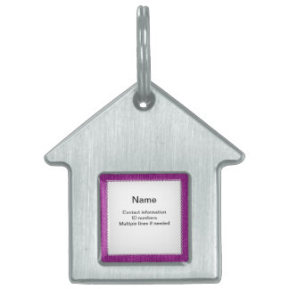 Text Template - Orchid Knit Stockinette Stitch Pet ID Tag